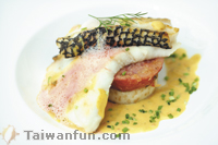 Steam-Baked Cod Fish basted in coffee sauce