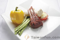 Ingredients of Italian Style Lamb Chops