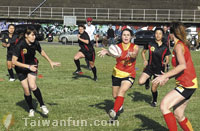 Social, cultural networking with ladies touch rugby