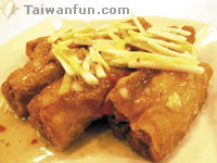 XO Sauce Flavored You Tiao (fried dough sticks) Stuffed with Shrimp